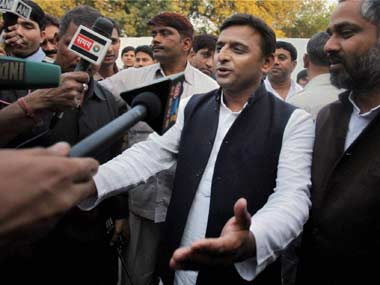 Why me: Chief Minister Akhilesh Yadav has not gone to Allahabad so far. PTI