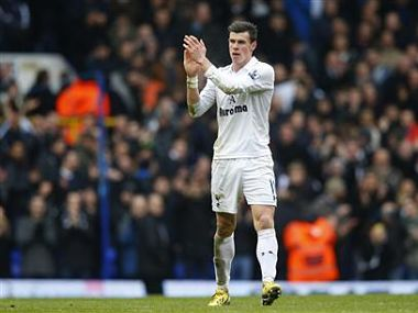 Gareth Bale of Tottenham Hotspur thanks the supporters after his side beat Newcastle United 2-1. Reuters