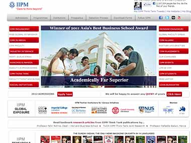 Screengrab of IIPM website.