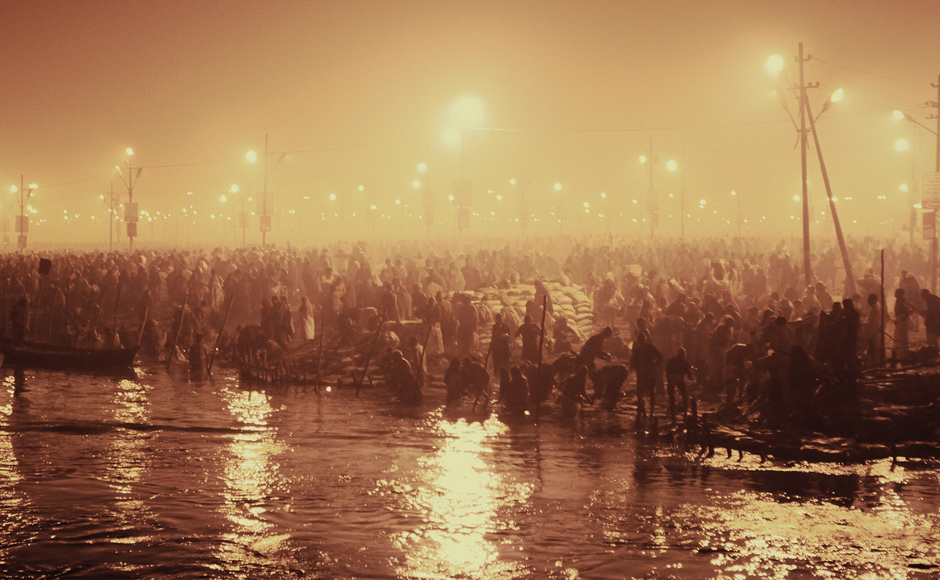 An estimated 30 million people visited the Maha Kumbh Mela on 10th February 2013. Trilok Sengupta