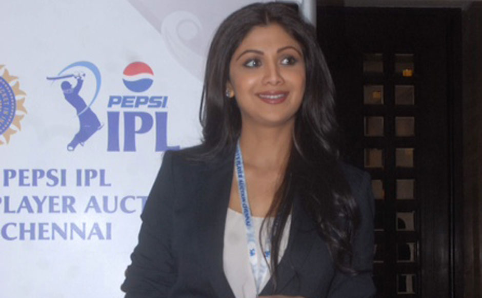 Rajasthan Royals owner Shilpa Shetty at the IPL auctions. Firstpost