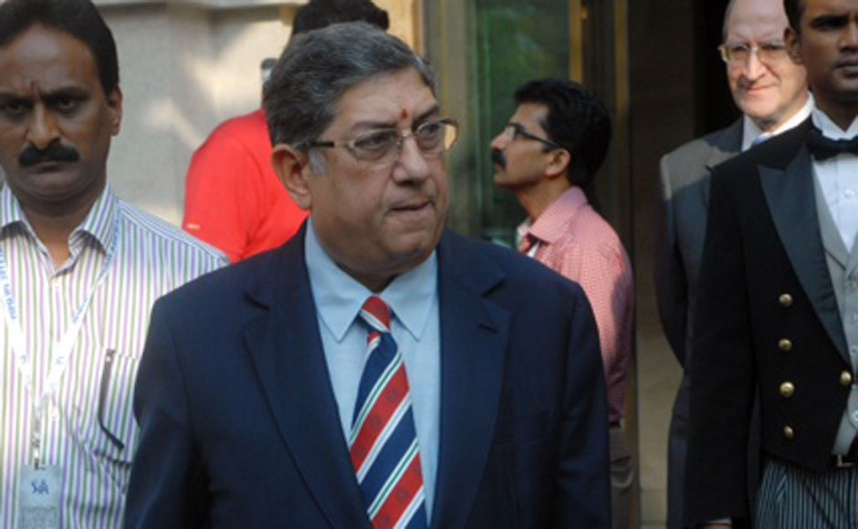 Chennai Super Kings owner N Srinivasan at the auctions. Firstpost