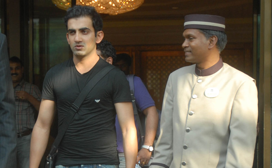 Kolkata Knight Riders captain Gautam Gambhir leaves the venue of the auction on Sunday. Firstpost