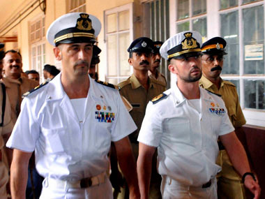 The two marines have been granted bail. PTI