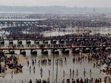The crowds at the Kumbh have been handled peacefully despite the crowds. PTI