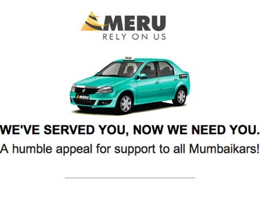Shot of an emailer sent out to Meru subscribers