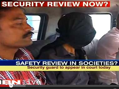The accused when he was arrested in this file screengrab from IBN-Live video.