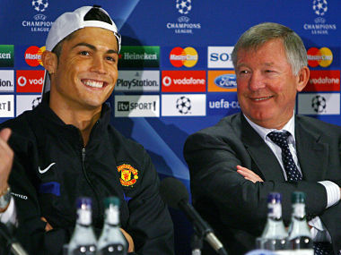 Cristiano Ronaldo and Sir Alex Ferguson. Getty