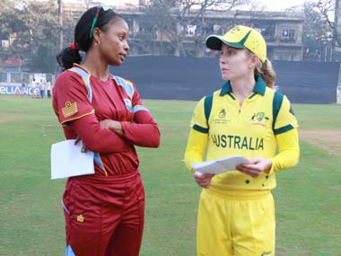 West Indies captain Merissa Aguilleira and Australia captain Jodie Fields. ICC
