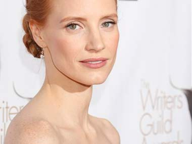 Jessica Chastain, star of Zero Dark Thirty at the awards: AP