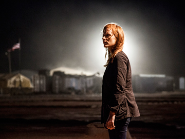 Jessica Chastain, as Maya, a member of the elite team of spies and military operatives stationed in a covert base overseas, who secretly devoted themselves to finding Osama Bin Laden in Columbia Pictures' new thriller, Zero Dark Thirty. AP