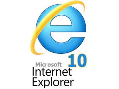 Internet Explorer 10 logo.