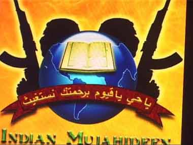 Indian Mujahideen symbol. Screen grab/ ibnlive