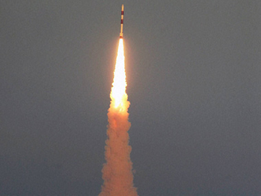 PSLV C-20/SARAL, carrying the various satellites to space, takes off during its launch from the Satish Dhawan Space Centre in Sriharikota. PTI