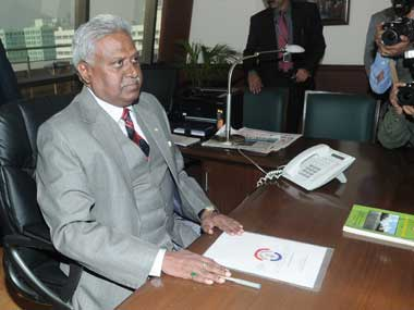 CBI chief Ranjit Sinha. Image courtesy PIB