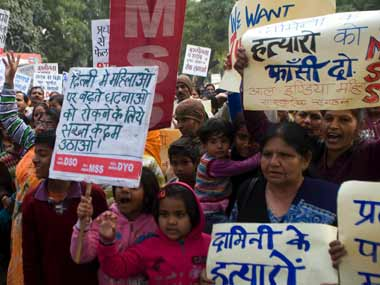 Image from protests in January over the Delhi gangrape: Naresh Sharma/Firstpost
