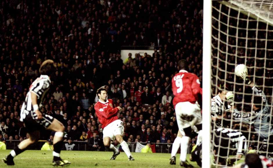 Giggs scores a brilliant equaliser against Juventus in the 1999 treble campaign. He has amassed 143 appearances in the Champions League until now. Getty Images