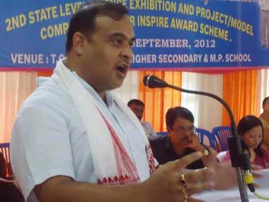 Assam Health and Education Minister Himanta Biswa Sarma. Image courtesy Facebook