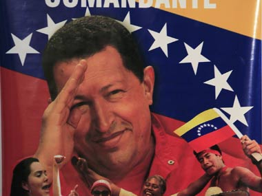 The final salute: Hugo Chavez.