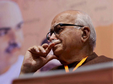 LK Advani during BJP National Meet. PTI
