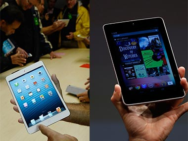 The iPad mini vs the Nexus 7. Agencies