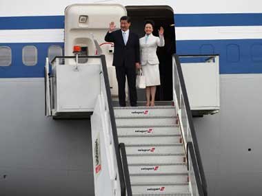 Chinese President Xi Jinping and his wife Peng Liyuan. AFP