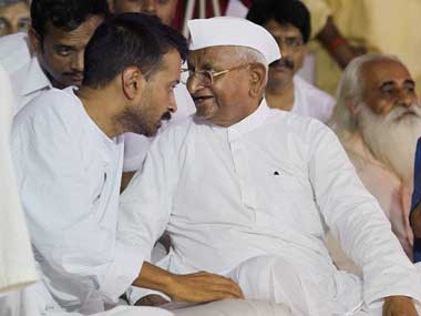 Anna and Kejriwal in happier times: PTI