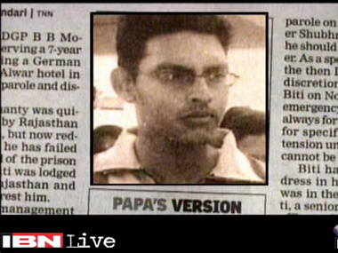 A newspaper cut out of Bitti Mohanty. Ibnlive