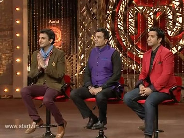 The three judges on the sets of the new season of Masterchef India.