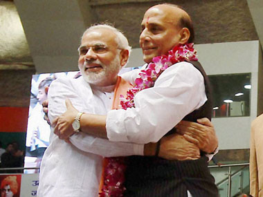 In Modi, the BJP reckons it has a winning card, but is Modi-mania enough? PTI.