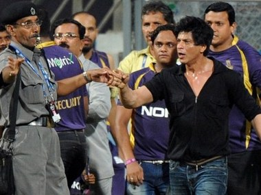SRK during his infamous brawl at Wankhede. AFP