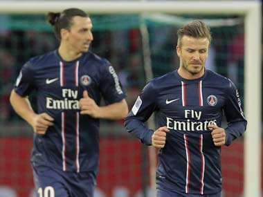 Beckham and Ibrahimovic will be PSG's star attractions. Reuters