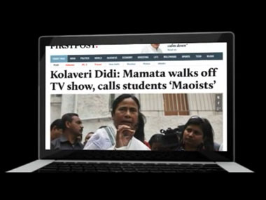 A screenshot of the Firstpost ad.