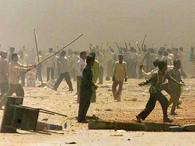 File photo of the 2002 Gujarar  riots. Reuters