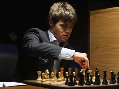 Carlsen will play Anand for the world title. Getty Images