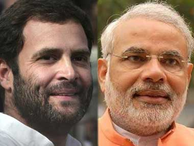 Rahul Gandhi and Narendra Modi. Agencies