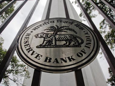 The RBI logo is pictured outside its head office in Mumbai. Reuters