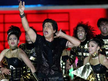 SRK performing at the IPL opening ceremony. PTI