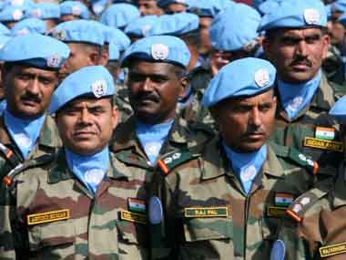 Indian Army troops on UN mission. AFP