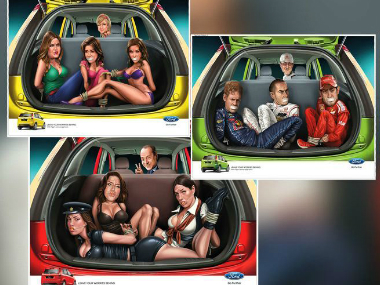The controversial Ford Figo print ads.