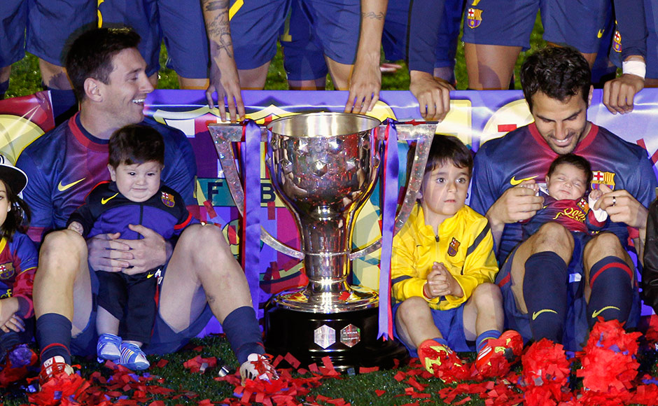 Images: Messi brings his adorable son Thiago to Barca's ...
