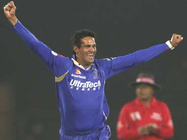 Ajit Chandila is one of three Rajasthan Royals players who have been arrested. BCCI
