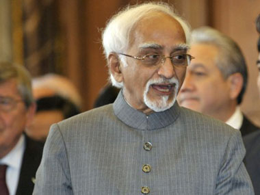 File photo of Hamid Ansari. AFP