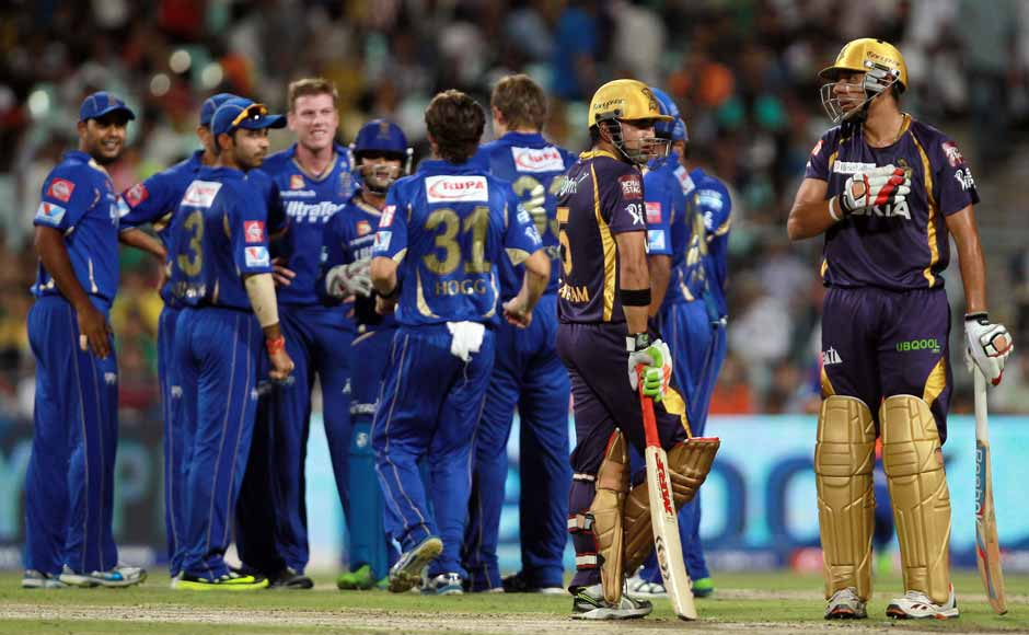 Gambhir was eventually dismissed by Watson, but KKR went on to win the match. BCCI