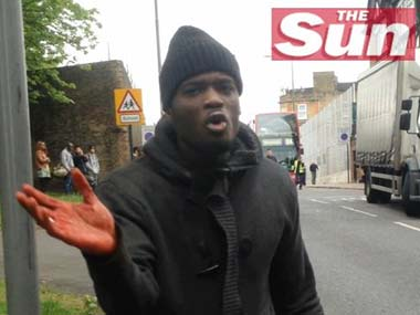 One of the attackers talks to the camera with bloodied hands: AP