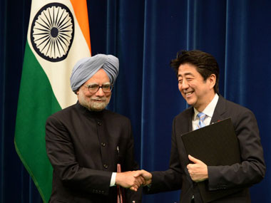 Should Manmohan Singh thank China for Japan's generosity. AFP