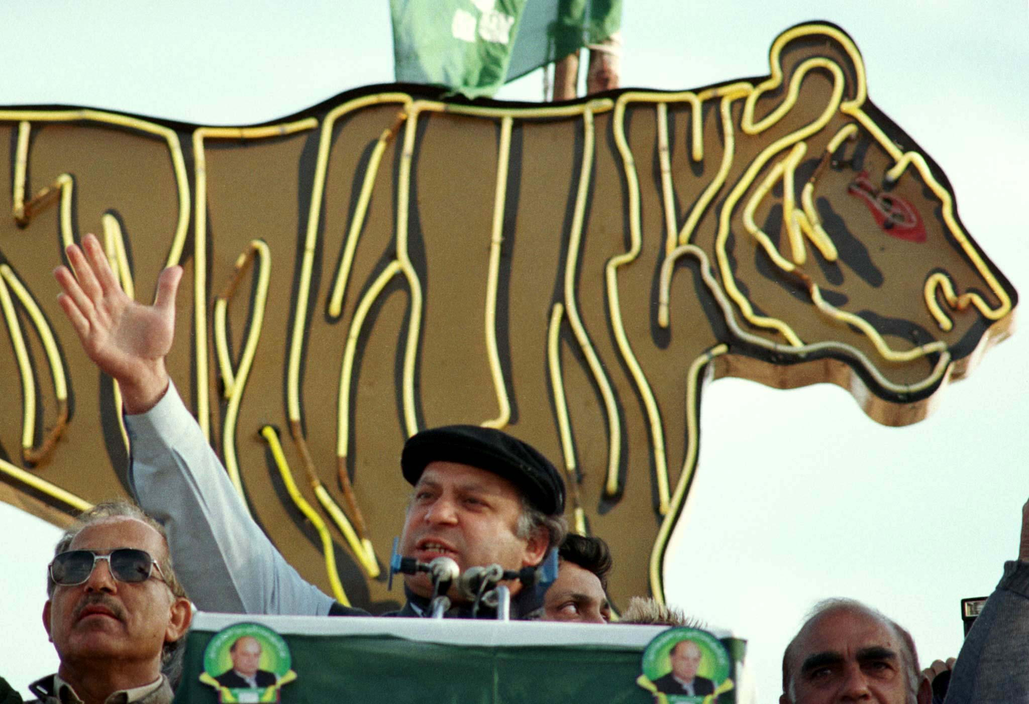 NAWAZ SHARIF CAMPAIGNS FOR PAKISTANI GENERAL ELECTIONS