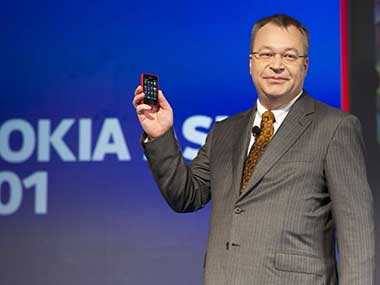 Nokia CEO Stephen Elop at the launch of the 501. Image via Nokia.