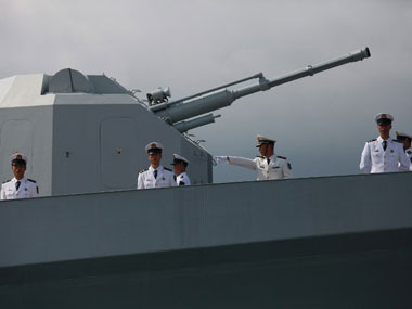 A Chinese naval warship. AFP