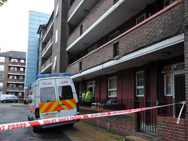 The scene of crime in Woolwich, London. AFP